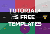 After Effects Tutorial – .gif Animated Banner & 5 Free Templates intended for Animated Banner Template