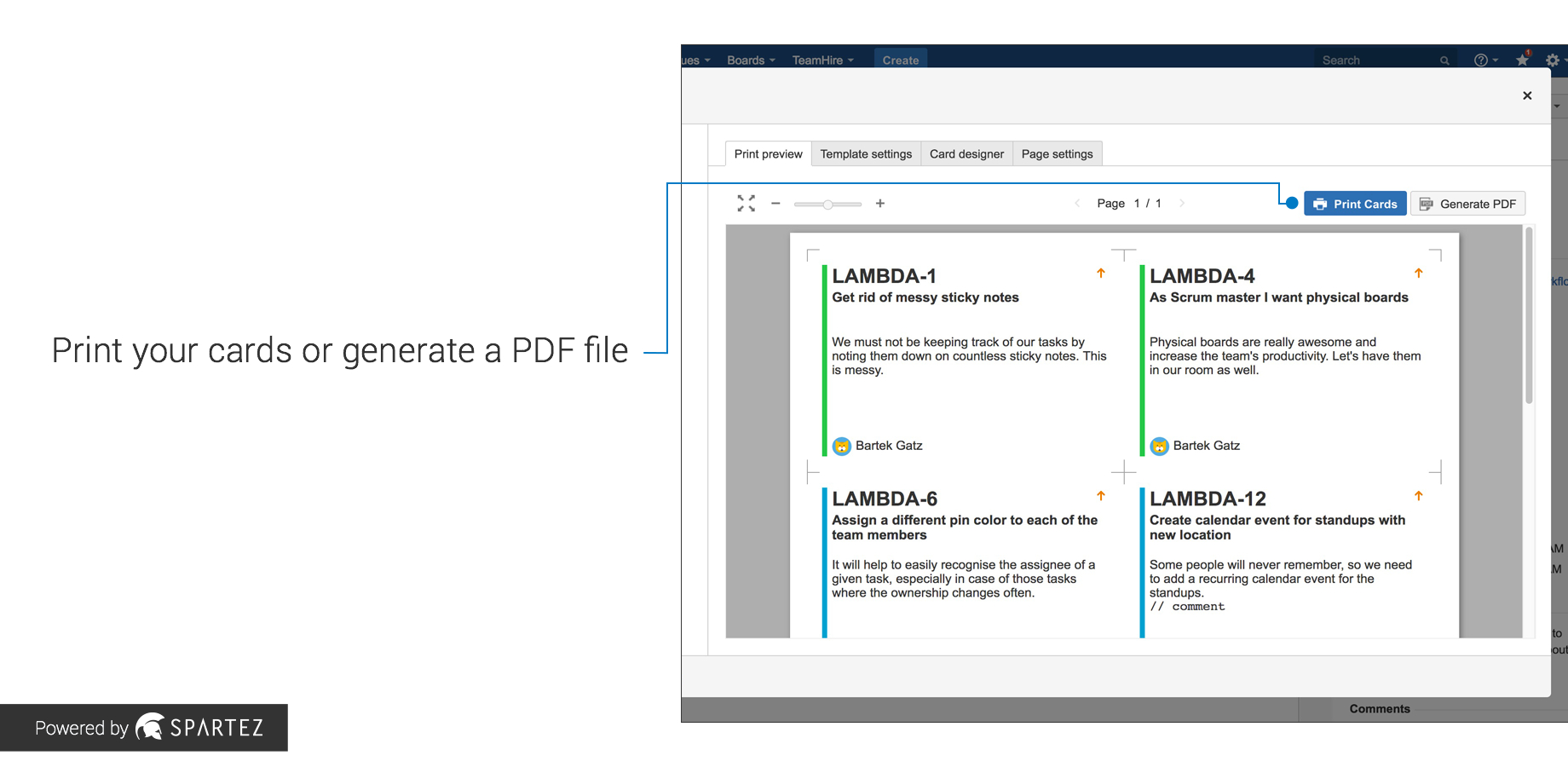 Agile Cards – Print Issues From Jira | Atlassian Marketplace Pertaining To User Story Word Template