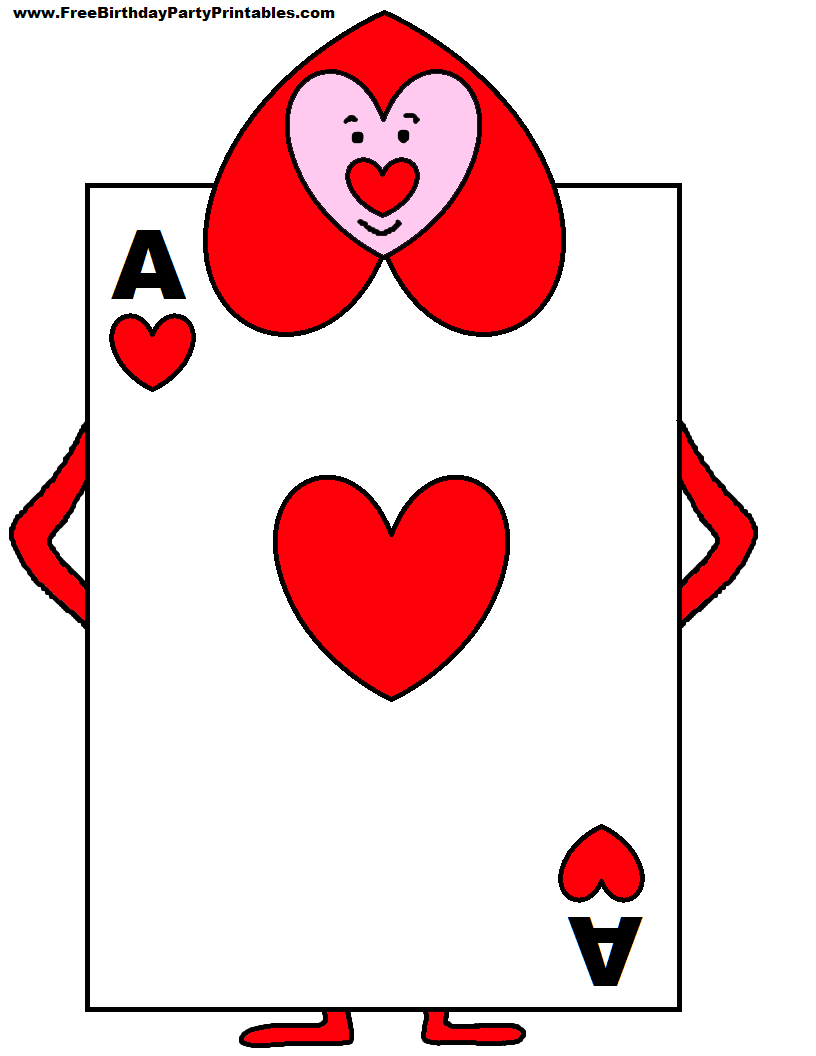 Alice In Wonderland Card Soldiers Printable Cutout   Party Pertaining To Alice In Wonderland Card Soldiers Template