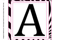 Alphabet Letters To Print Out Free Printable For Posters throughout Free Letter Templates For Banners