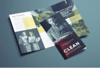 Amazing Clean Trifold Brochure Template | Design. | Brochure With Cleaning Brochure Templates Free