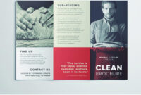 Amazing Clean Trifold Brochure Template | Free Download Within Cleaning Brochure Templates Free