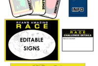 Amazing Race Clues & Challenge Cards – Editable | Teacher intended for Clue Card Template