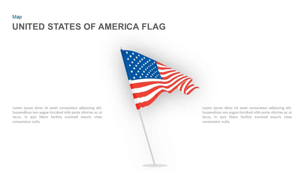 American Flag Powerpoint Template And Keynote Slide Throughout American Flag Powerpoint Template