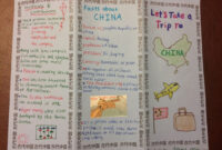 Ancient China Travel Brochure | Elementary School Projects in Brochure Templates For School Project