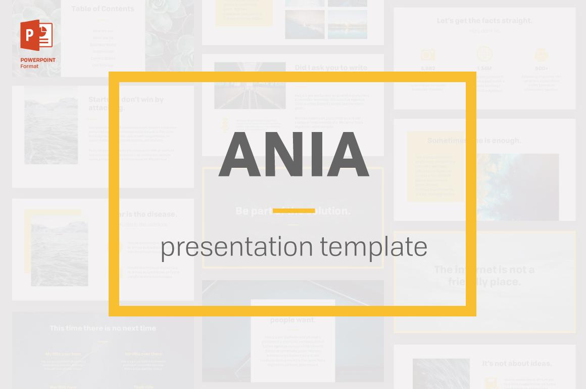 Ania Powerpoint Templateprojectile Studio On Inside Fancy Powerpoint Templates