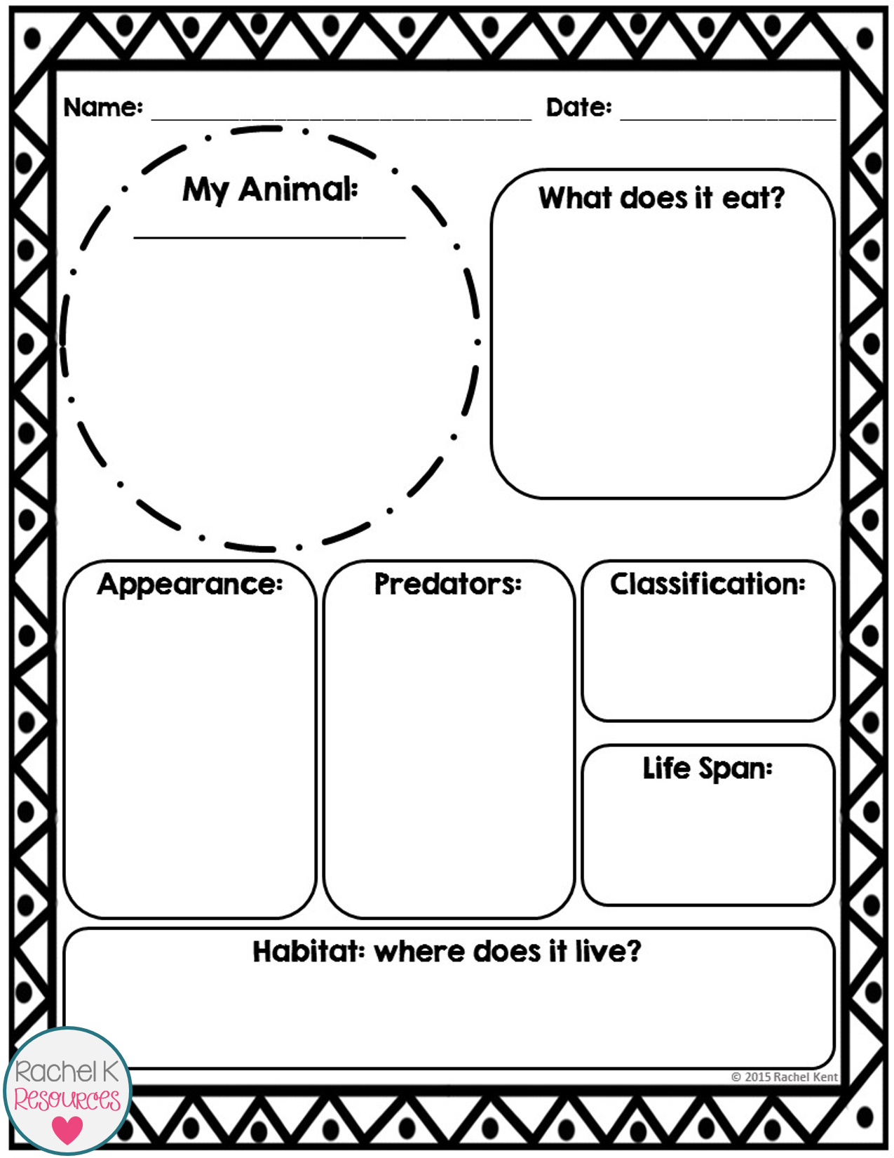 Animal Report Template | Science | Report Template Within Template For Information Report