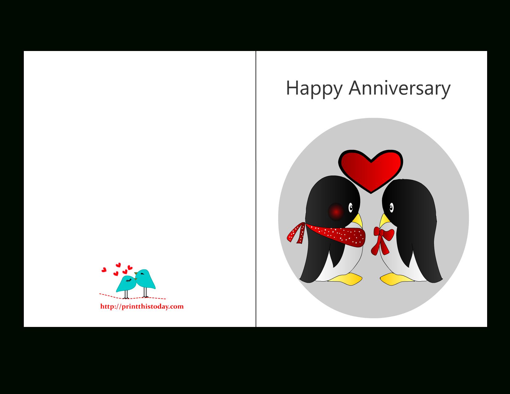 Anniversary Card Templates 12 Free - Anniversary Card With Regard To Anniversary Card Template Word
