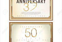 Anniversary Certificate Template Intended For Anniversary intended for Anniversary Certificate Template Free