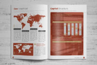 Annual Report Brochure Indesign Template 4 #report, #annual in Brochure Templates Adobe Illustrator