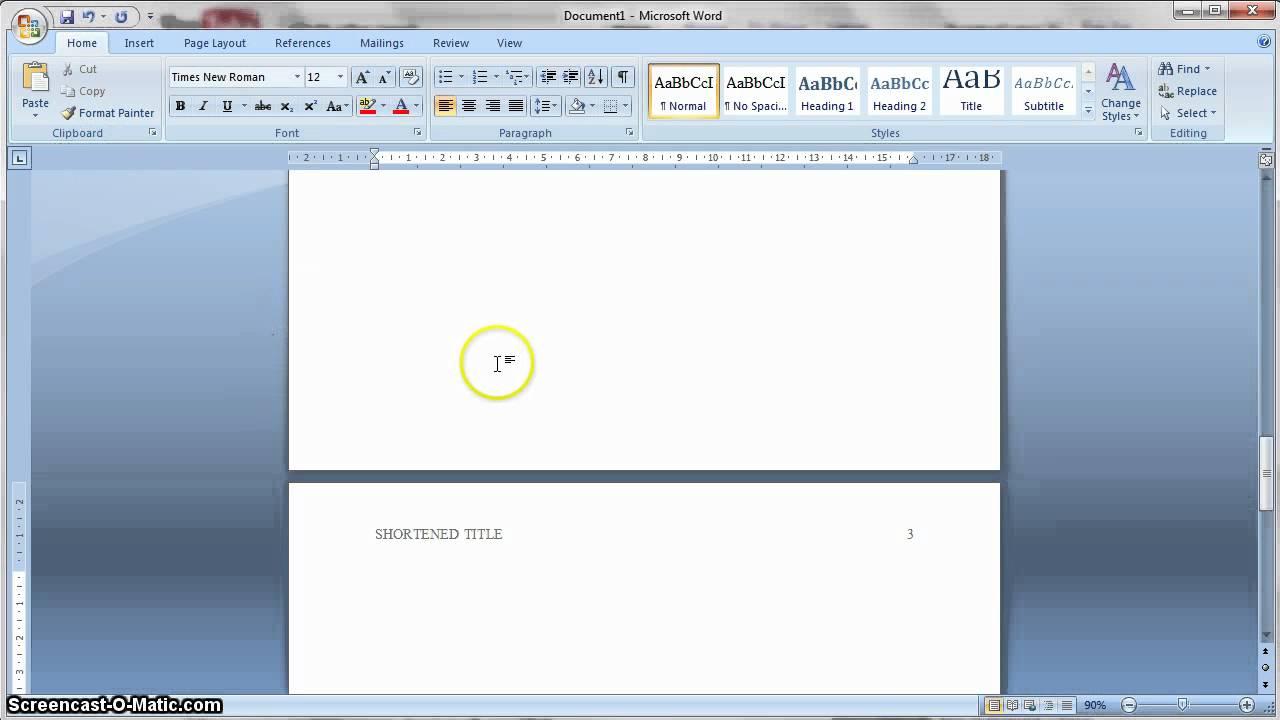 Apa Formatting 6Th Edition In Ms Word Regarding Word Apa Template 6Th Edition