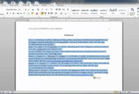 Apa Style Reference Page inside Apa Template For Word 2010