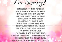 Apology Card Templates | 10+ Free Printable Word & Pdf within Sorry Card Template