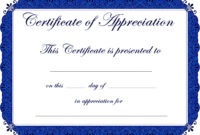 Appealing Award Template Word For Certificate Of with regard to Template For Certificate Of Appreciation In Microsoft Word
