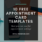 Appointment Card Template: 10 Free Resources For Small with Medical Appointment Card Template Free