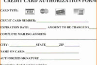 Are You At Risknot Using Credit Card Authorization Forms with Credit Card Payment Slip Template