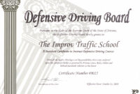 Arizona Defensive Driving Schoolimprov pertaining to Safe Driving Certificate Template