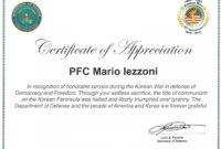Army Certificate Of Appreciation – Climatejourney with regard to Army Certificate Of Appreciation Template