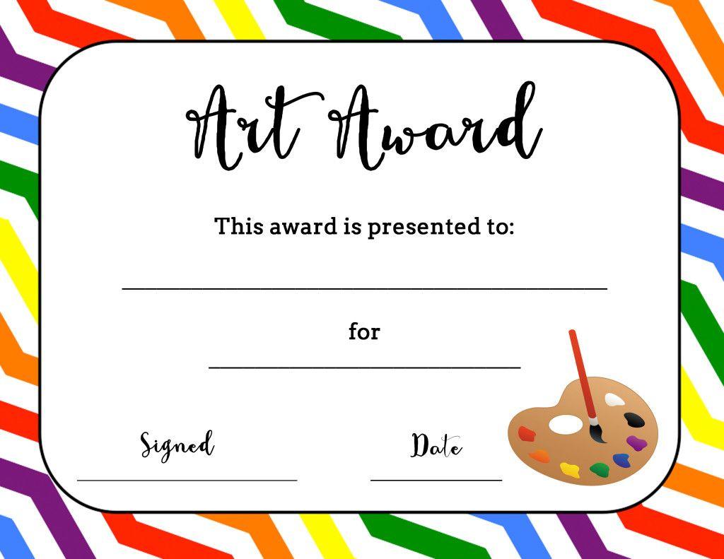 Art Award Certificate (Free Printable) | Art | Art Classroom Regarding Art Certificate Template Free