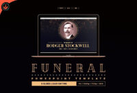 Art Deco Funeral Powerpoint Template #place#ways#today pertaining to Funeral Powerpoint Templates