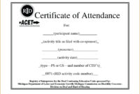 Attendance Template Word – Verypage.co intended for Attendance Certificate Template Word