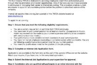 Auditor Resume Sample Guide 20 External Internal Tips In pertaining to Internal Job Posting Template Word