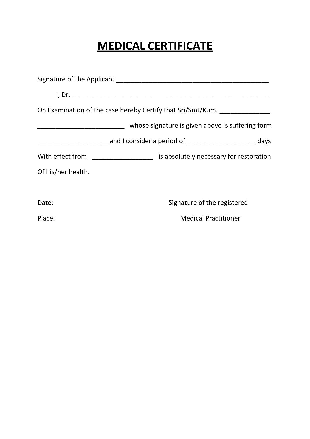 Australian Doctors Certificate Template - Atlantaauctionco For Australian Doctors Certificate Template