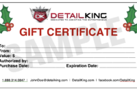 Auto Detailing Gift Certificate Template | Arts – Arts Regarding Automotive Gift Certificate Template