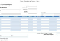 Auto Expense Report – Word Template – Word Templates For regarding Ms Word Templates For Project Report