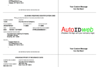 Auto Insurance Card Template – Fill Online, Printable with Proof Of Insurance Card Template