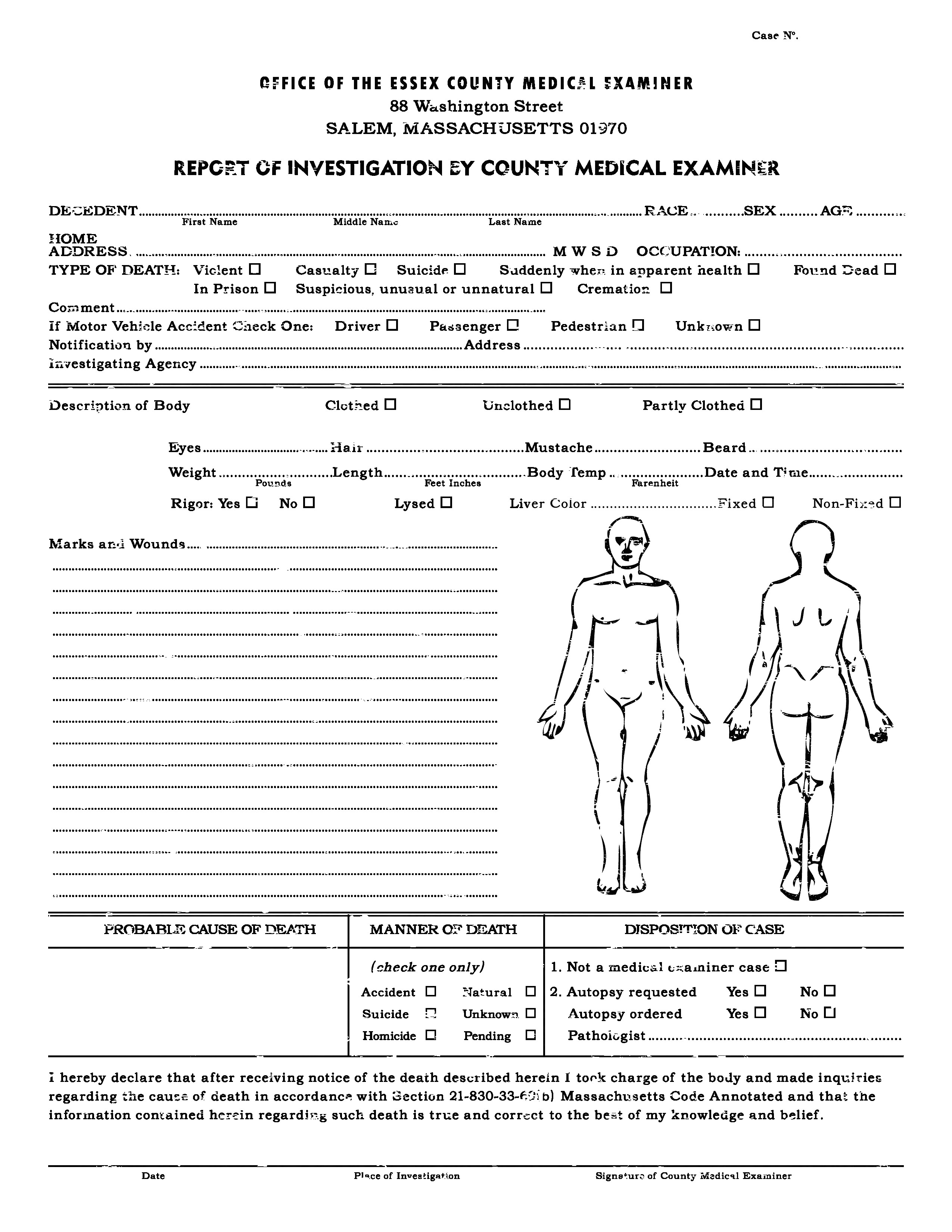 Autopsy Report Template - Atlantaauctionco In Blank Autopsy Report Template