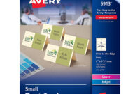 """Avery Small Ivory Tent Cards, Laser/inkjet Printers, 2""""x3-1/2"""", Pack Of 160  (5913) with regard to Free Place Card Templates 6 Per Page"""