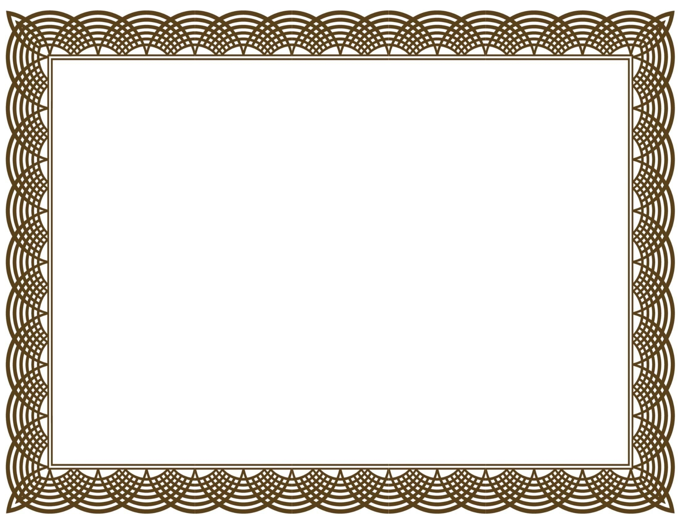 Award Certificate Border Pdf Template In Certificate Border Inside Award Certificate Border Template