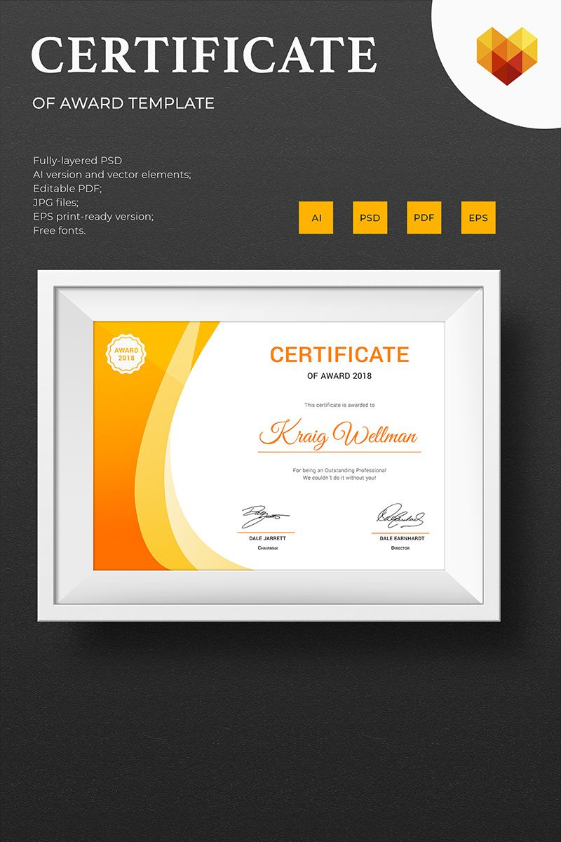 Award Certificate Template #73891 | Design Illustration Art Throughout Small Certificate Template