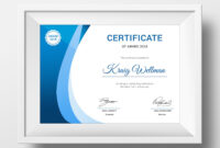 Award Certificate Template #73891 | Design Illustration Art within Small Certificate Template