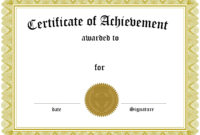 Award Certificate Template Certificate Templates Best Free inside Certificate Of Accomplishment Template Free