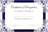Award Certificate Template Publisher Fresh Award Certificate in Award Certificate Border Template