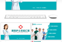 Awesome Brief Hospital Nurse Summary Report Ppt Template For inside Free Nursing Powerpoint Templates