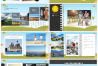 Awesome Cartoon Landscape Travel Record Electronic Photo inside Powerpoint Photo Album Template