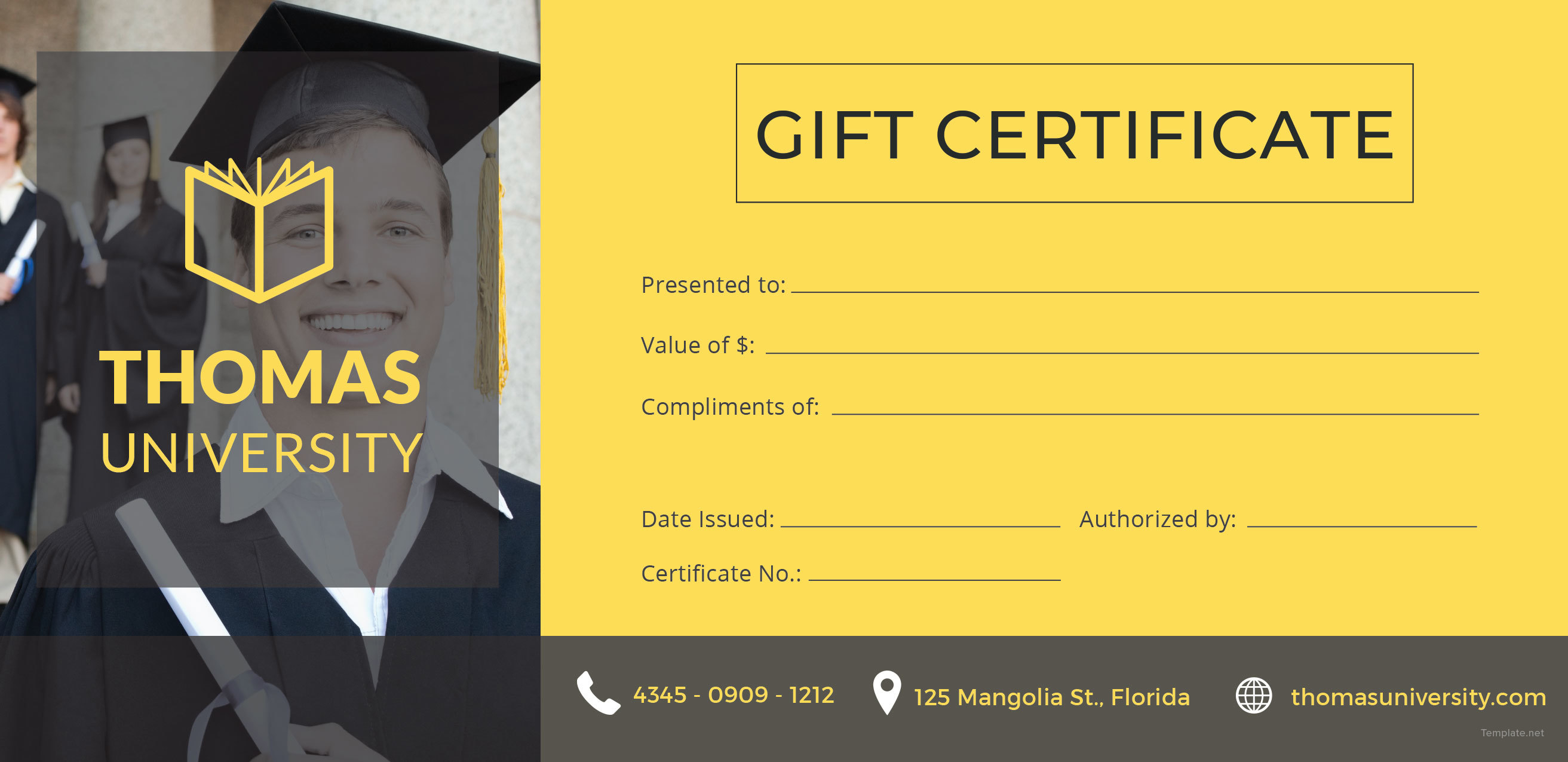 Awesome Collection For Graduation Gift Certificate Template In Graduation Gift Certificate Template Free