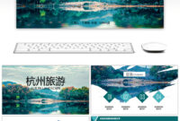Awesome Hangzhou Impression Tourism Album Ppt Template For inside Tourism Powerpoint Template