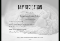 Baby Dedication Certificate Template For Word [Free for Baby Dedication Certificate Template