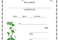 Baby Dedication Certificates Printable – Fill Online pertaining to Baby Christening Certificate Template