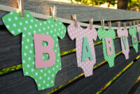 "Baby One-Piece Bodysuit ""baby Girl"" Baby Shower Banner: Pink regarding Diy Baby Shower Banner Template"