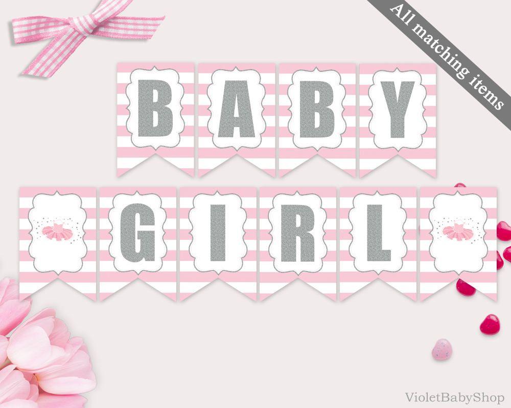 Baby Shower Banner Template Printable Tutu Excited Banner With Baby Shower Banner Template