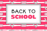 Back School Banner Template Vector Pink Girls Concept pertaining to College Banner Template