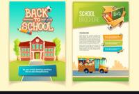 Back To School Brochure Cartoon Template intended for School Brochure Design Templates