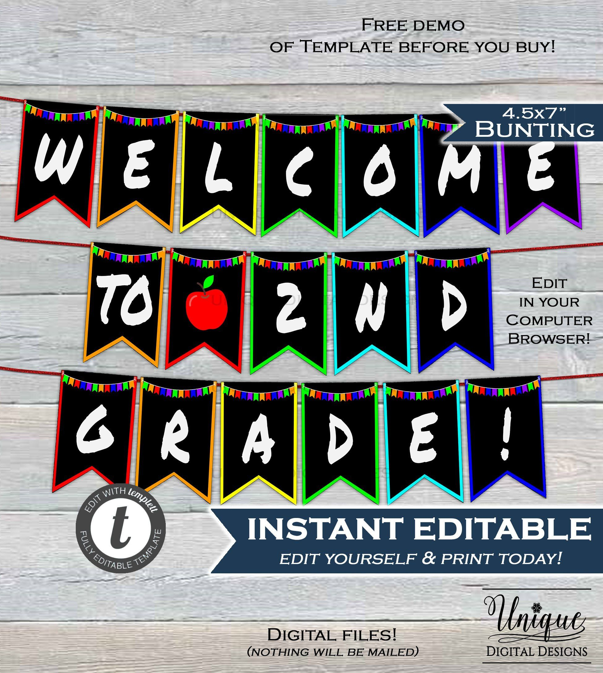 Back To School Classroom Decoration Welcome To School With Classroom Banner Template