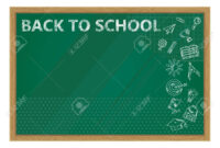 Back To School. Whiteboard In Classroom Poster And Banner Template.. pertaining to Classroom Banner Template