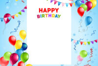 Balloons Happy Birthday Card Template for Free Happy Birthday Banner Templates Download